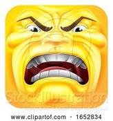 Vector Illustration of Cartoon Angry Emoji Emoticon 3D Icon Character by AtStockIllustration