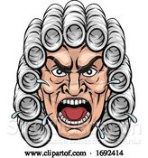 Vector Illustration of Cartoon Angry Judge Character by AtStockIllustration