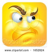 Vector Illustration of Cartoon Annoyed Emoji Emoticon Icon Character by AtStockIllustration