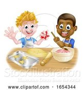 Vector Illustration of Cartoon Boy Bakers by AtStockIllustration
