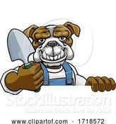Vector Illustration of Cartoon Bulldog Gardener Gardening Animal Mascot by AtStockIllustration