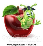 Vector Illustration of Cartoon Caterpillar Character by AtStockIllustration