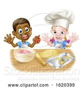 Vector Illustration of Cartoon Child Bakers Baking by AtStockIllustration
