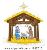Vector Illustration of Cartoon Christmas Nativity Scene Cartoon by AtStockIllustration