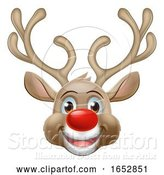 Vector Illustration of Cartoon Christmas Reindeer Character by AtStockIllustration