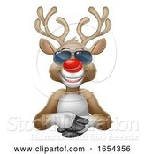 Vector Illustration of Cartoon Cool Christmas Reindeer Deer in Sunglasses by AtStockIllustration