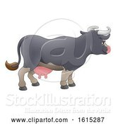 Vector Illustration of Cartoon Cow Animal Character by AtStockIllustration