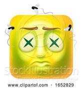 Vector Illustration of Cartoon Dead Zombie Emoji Emoticon Icon Character by AtStockIllustration