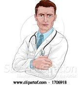 Vector Illustration of Cartoon Doctor Medical Healthcare Professional Character by AtStockIllustration