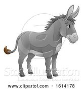Vector Illustration of Cartoon Donkey Animal Character by AtStockIllustration