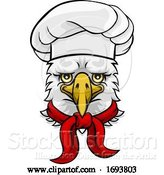 Vector Illustration of Cartoon Eagle Chef Mascot Character by AtStockIllustration