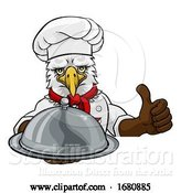 Vector Illustration of Cartoon Eagle Chef Mascot Sign Character by AtStockIllustration
