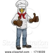 Vector Illustration of Cartoon Eagle Chef Mascot Thumbs up Cartoon by AtStockIllustration