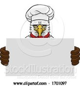 Vector Illustration of Cartoon Eagle Chef Restaurant Mascot Sign by AtStockIllustration