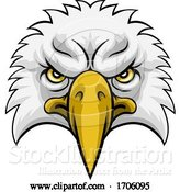 Vector Illustration of Cartoon Eagle Head Mascot Face by AtStockIllustration