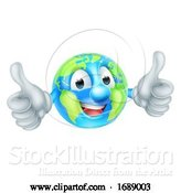 Vector Illustration of Cartoon Earth Day Mascot World Globe Character by AtStockIllustration