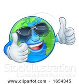 Vector Illustration of Cartoon Earth Globe Shades Sunglasses World Mascot by AtStockIllustration
