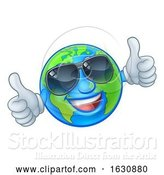 Vector Illustration of Cartoon Earth Globe Sunglasses Shades World Mascot by AtStockIllustration