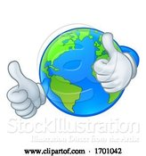Vector Illustration of Cartoon Earth Globe World Character Mascot by AtStockIllustration