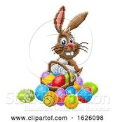 Vector Illustration of Cartoon Easter Bunny Pixel Art 8 Bit Game Cartoon by AtStockIllustration