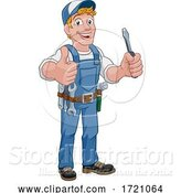 Vector Illustration of Cartoon Electrician Handyman Plumber Mechanic by AtStockIllustration