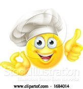 Vector Illustration of Cartoon Emoji Chef Cook OK Thumbs up by AtStockIllustration