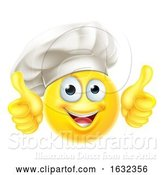 Vector Illustration of Cartoon Emoji Chef Cook Thumbs up by AtStockIllustration