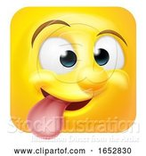 Vector Illustration of Cartoon Funny Cheeky Emoji Emoticon Icon Character by AtStockIllustration