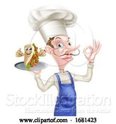 Vector Illustration of Cartoon Kebab Chef by AtStockIllustration
