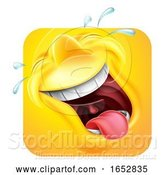 Vector Illustration of Cartoon Laughing Emoji Emoticon Icon 3D Character by AtStockIllustration