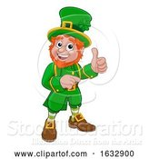 Vector Illustration of Cartoon Leprechaun St Patricks Day Character by AtStockIllustration