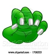 Vector Illustration of Cartoon Monster Claw Hand by AtStockIllustration