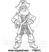 Vector Illustration of Cartoon Pirate Captain Character Mascot by AtStockIllustration