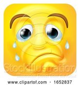 Vector Illustration of Cartoon Sad Crying Emoji Emoticon Icon Character by AtStockIllustration