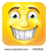 Vector Illustration of Cartoon Smiling Emoji Emoticon Icon 3D Character by AtStockIllustration