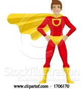 Vector Illustration of Cartoon Super Hero Guy Cartoon by AtStockIllustration