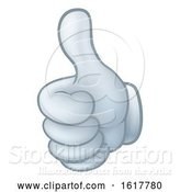 Vector Illustration of Cartoon Thumbs up Glove Hand by AtStockIllustration