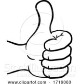 Vector Illustration of Cartoon Thumbs up Hand Icon by AtStockIllustration