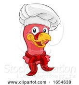 Vector Illustration of Cartoon Turkey Chef Thanksgiving or Christmas Cartoon by AtStockIllustration
