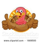 Vector Illustration of Cartoon Turkey Thanksgiving or Christmas Character by AtStockIllustration