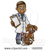 Vector Illustration of Cartoon Vet Character by AtStockIllustration