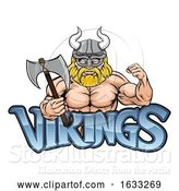 Vector Illustration of Cartoon Viking Sports Mascot by AtStockIllustration