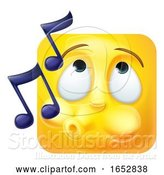 Vector Illustration of Cartoon Whistling Emoji Emoticon Icon 3D Character by AtStockIllustration