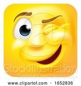 Vector Illustration of Cartoon Winking Emoji Emoticon 3D Icon Character by AtStockIllustration