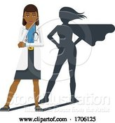 Vector Illustration of Cartoon Young Medical Doctor Super Hero Mascot by AtStockIllustration
