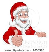 Vector Illustration of Cartoon Young Santa Sign Thumbs up Christmas Cartoon by AtStockIllustration