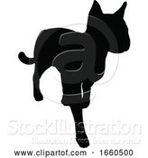 Vector Illustration of Cat Pet Animal Silhouette by AtStockIllustration