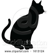 Vector Illustration of Cat Silhouette by AtStockIllustration