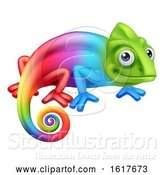 Vector Illustration of Chameleon Lizard Character by AtStockIllustration