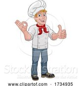 Vector Illustration of Chef Cook Baker Guy Giving Thumbs up by AtStockIllustration